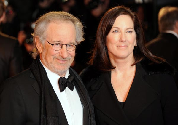 "Director Steven Spielberg and Producer Kathleen Kennedy at The World Premiere of DreamWorks Pictures' ""War Horse"" © DreamWorks II Distribution Co. LLC. All Rights Reserved. (Photo by Jon Furniss/WireImage)"
