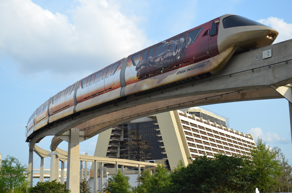 Iron Man 3 Monorail at Walt Disney World