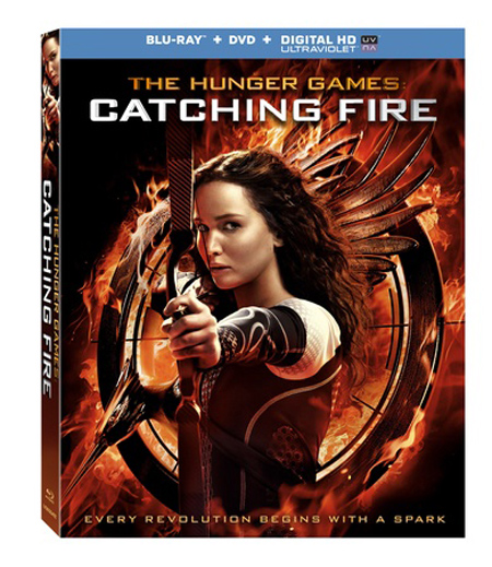 THE HUNGER GAMES: CATCHING FIRE Blu-ray/DVD cover art