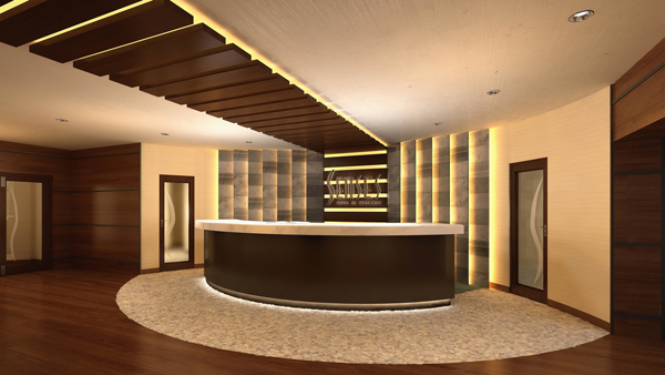 "Disney Magic - Senses Spa & Salon€"" Reception Area"