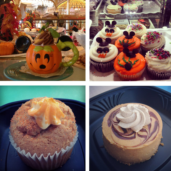 A small sampling of some of the seasonal treats found around the park.