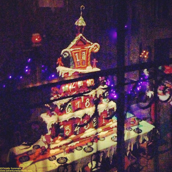 Last year's gingerbread display was a creepy advent calendar.