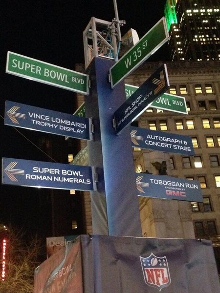 Super Bowl Boulevard New York City