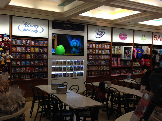 Disney Store in the Ghirardelli Ice-Cream Shop next to El Capitan