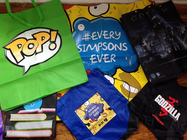 Bags George Collected at San Diego Comic-Con