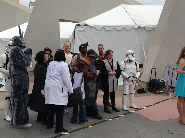 Fans in Star Wars Costumes at San Diego Comic-Con