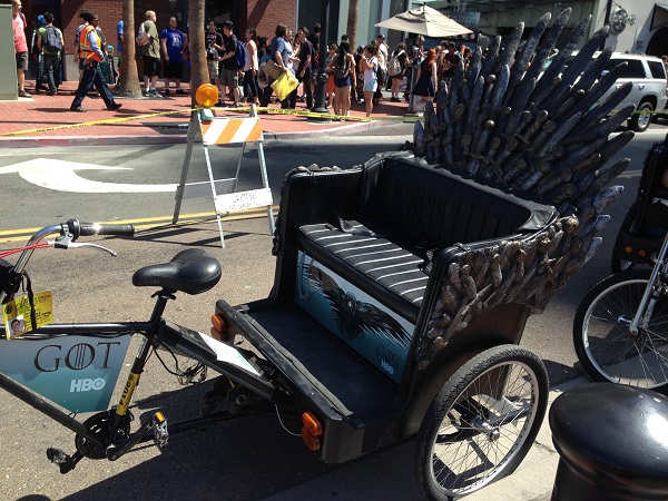 Game of Thrones Pedicab at San Diego Comic-Con