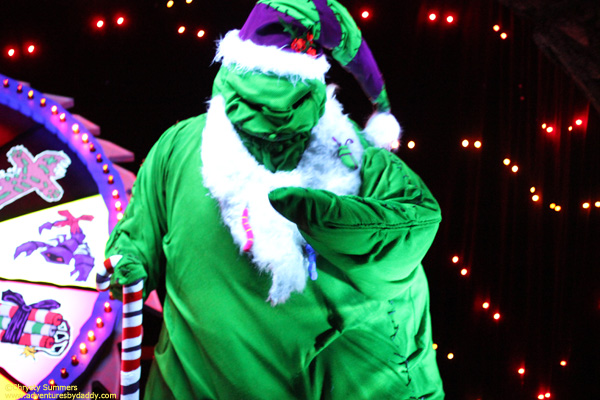 Oogie Boogie spins the wheel of Holiday Tricks & Treats