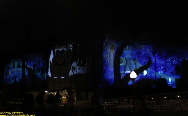 "Ursula is projected on It's a Small World as she sings ""Poor Unfortunate Souls"""