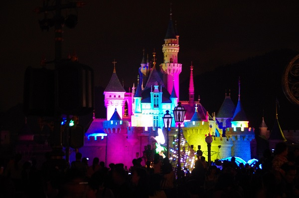 HKDL Sleeping Beauty Castle at Night