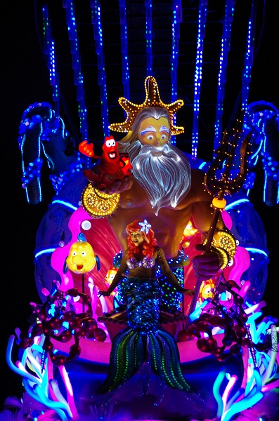 Little Mermaid and Friends in HKDL Paint the Night Parade