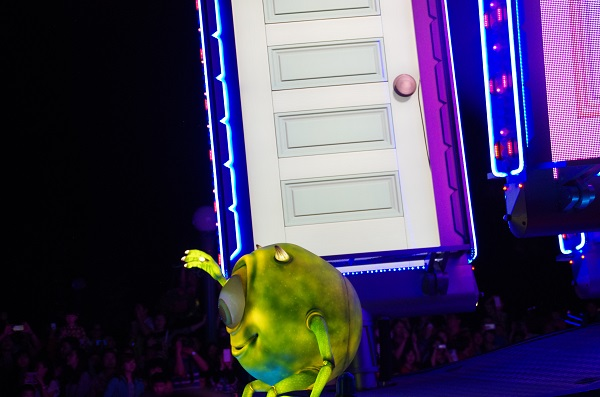 Mike and Doors on Monsters Inc float in HKDL Paint the Night Parade