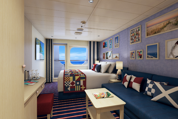 Carnival cruise line unveils carnival vista fun ship for Cruise balcony vs suite