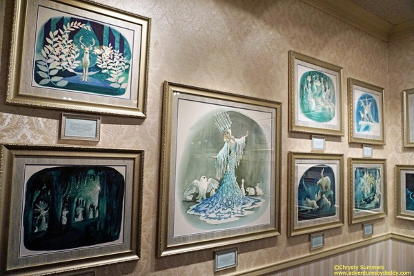 Concept designs for the proposed Snow Queen dark ride  by Disney Legend Marc Davis.