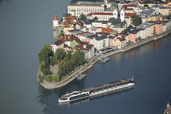 AmaPrima cruising in Passau, Germany - photo courtesy AmaWaterways