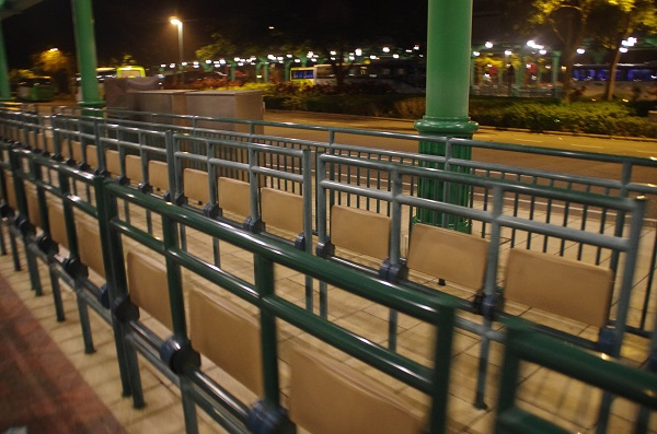 HKDL Bus Waiting Area Seats