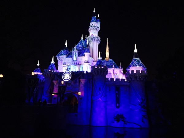Disneyland60 Castle At Night
