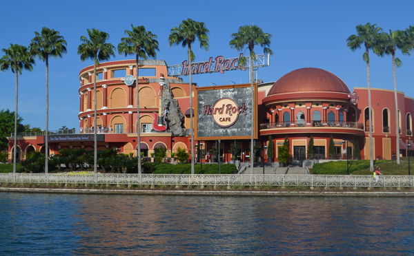 Hard Rock Cafe from Water Taxi