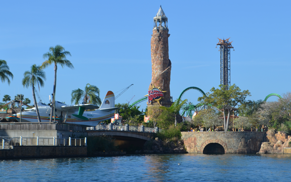Islands of Adventure from Water Taxi