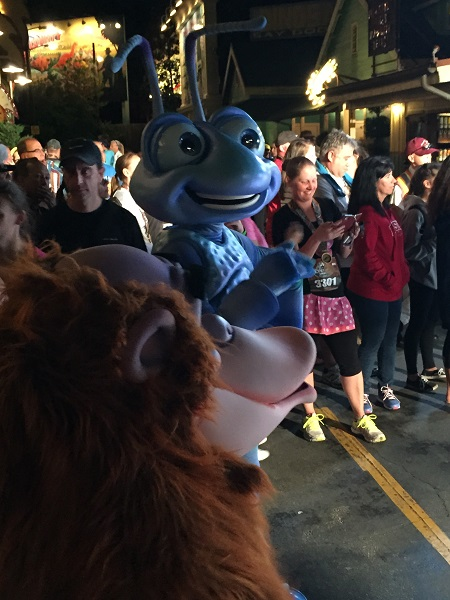 Flik and Louie at the Expedition Everest Challenge Summit Party