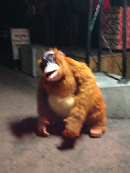 Expedition Everest Challenge King Louie Photo Op