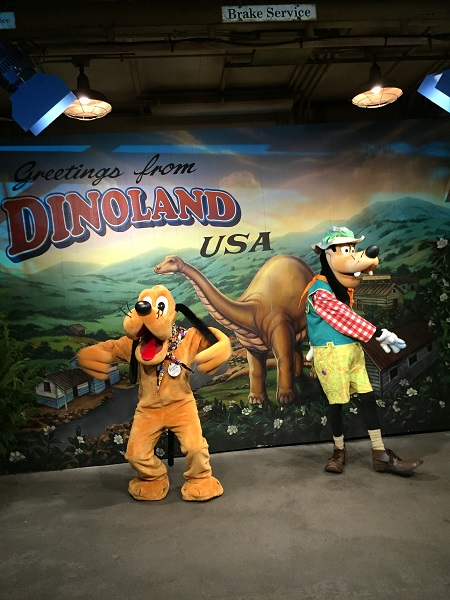 Pluto and Goofy at the Expedition Everest Challenge Summit Party