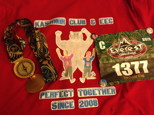 Expedition Everest Challenge Shirt, Bib and Medal opened