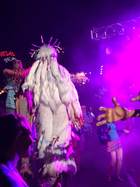 Yeti Dancing at the Expedition Everest Challenge Summit Party