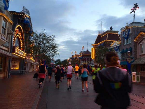 Running down Main Street of Disneyland, always an inspiring view.