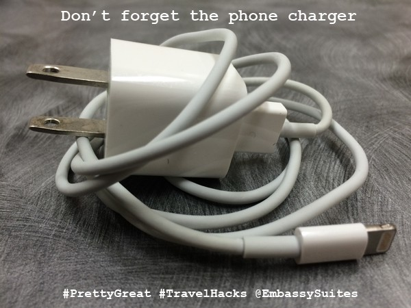 Phone Travel Hacks - phone charger