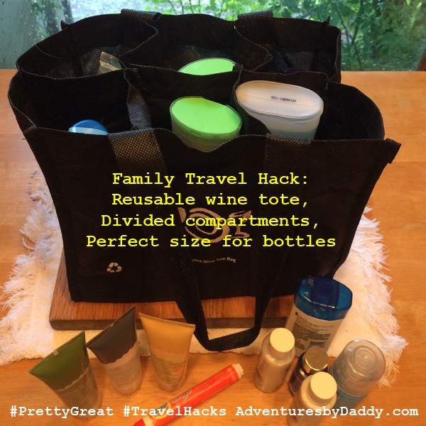 Packing Travel Hacks - Wine Tote